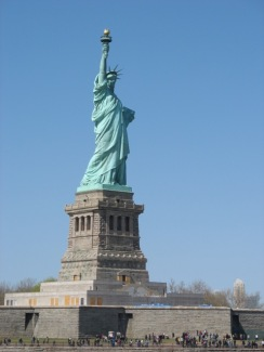 The Statue of Liberty. New York Harbor. I took this photo myself, in 2012.
