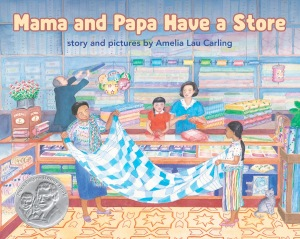 cover image from Mama and Papa Have a Store by Amelia Lau Carling, Lee & Low Books